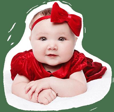 bebe vestido vermelho