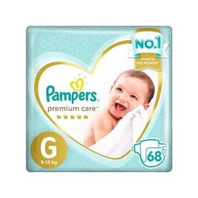 Fralda Pampers Premium Care G 68 Unidades, Pampers